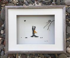 Pebble Art Romantic Couple Art Modern Wall Art Abstract