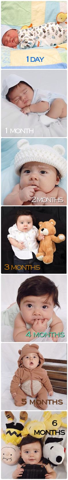 Baby growth 1 day old 1 month old 2 months old 3 months old 4 months old 5 months old 6 months old photo ideas cute baby picture
