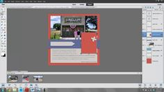 How to use layered templates in PSE by Scrapbook Lady Katie Nelson. Easy to understand beginner explanation. Thank you @Katie Nelson