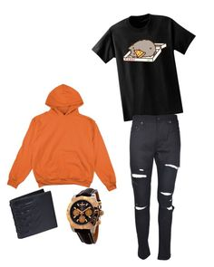 """Tavros"" by cydnneyl on Polyvore featuring Pusheen, Yves Saint Laurent, Alexander McQueen and Breitling"