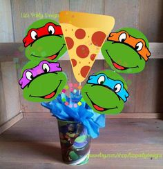 Pizza and face Picks INSTANT DOWNLOAD FILE