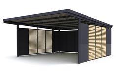 Back Patio, Backyard Patio, Custom Carports, Garden Pods, Car Ports, Horse Shelter, Facade House, Exterior Design, Bathrooms