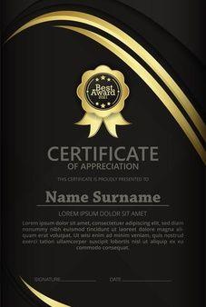 Identity Card Design, Certificate Frames, Surnames, Cards, Certificate Templates, Free Vector Art, School, Plants, Maps