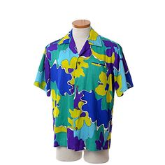 Vintage 60s 70s Ti'a Mens Hawaiian Shirt 1960s by CkshopperVintage