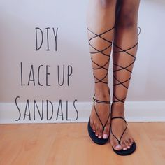 Nivii's Diary: DIY Trending Summer Lace Up Sandals