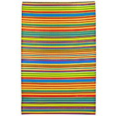Bright Multi-Stripe Rug for front patio...