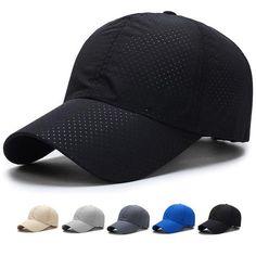 e72e23870a8f8b 1pcs Baseball Cap Unisex Summer Solid Thin Mesh Portable Quick Dry  Breathable Sun Hat Golf Tennis