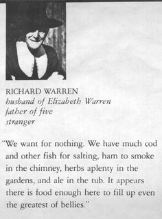 Rchard Warren mayflower - I am a direct descendant of this individual