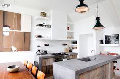 Nice concrete/wood kitchen