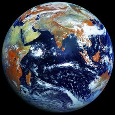 Planet Earth. As seen from a Russian weather satellite.