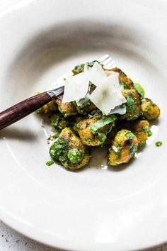 Sweet Potato Gnocchi with Wild Garlic and Sage Pesto - Top With Cinnamon