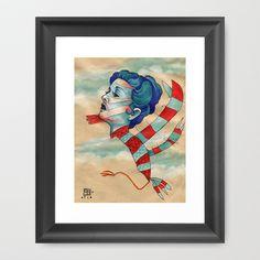 Bearded Bird Framed Art Print by Busymockingbird - $36.00