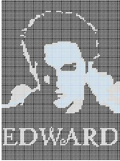 Plastic Canvas Crafts, Plastic Canvas Patterns, C2c Crochet, Crochet Patterns, Edward Cullen, Knitting Charts, Twilight Saga, Make And Sell, Perler Beads