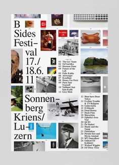 B-Sides Festival 2011 – Studio Feixen Web Design, Grid Design, Book Design, Cover Design, Layout Design, Poster Layout, Print Layout, Book Layout, Editorial Layout