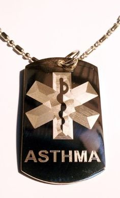 Medical Emergency Asthma Allergy Logo Sy...
