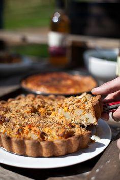 The Homity Pie Recipe – Pieminister Pastry Recipes, Veg Recipes, Cake Recipes, Vegetarian Recipes, Savoury Baking, Savoury Cake, Savoury Pies, Cheese And Potato Pie, Homity Pie