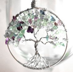 Tree of Life Pendant - Fluorine Rock.