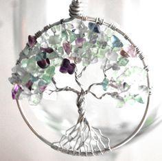 Tree of Life Pendant - Fluorine Rock.