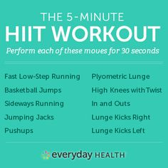 "No more using ""I don't have time"" to defend skipping a workout. This routine by Michelle Bridges (Australia's #1 weight-loss expert) is only 5 MINUTES long. Add it to your routine a few days a week to torch calories, get your heart rate up and give your metabolism a major boost."