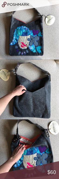 harajuku girl handmade tote harajuku girl handmade tote. Made of reclaimed materials and vegan leather. Lined. Interior pockets. Back pocket. kennakristine Bags Totes