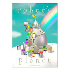 Rainbow robot 3DCG illustration work of Japanese robot illustrator Toshinori Mori.