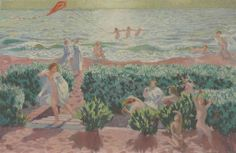 View Plage au cerf-volant by Maurice Denis on artnet. Browse upcoming and past auction lots by Maurice Denis. Maurice Denis, Art Français, Avant Garde Artists, Fauvism, Paris, Religious Art, Kite, Impressionist, Oil On Canvas