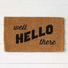 """West Elm """"Hello There"""" Doormat"""
