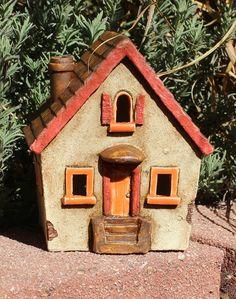 Clay House #19 | Harry Tanner Design  illuminated ceramic sculpture/lamp