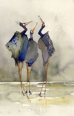 Discover recipes, home ideas, style inspiration and other ideas to try. Watercolor Bird, Watercolor Animals, Watercolor Paintings Abstract, Watercolor Portraits, Watercolor Landscape, Abstract Art, Art And Illustration, Illustrations, Guache