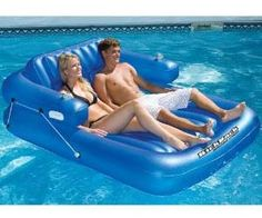 If you're going to bum it out on a couch all day, you might as well get a tan in the process. The Pool Couch is an inflatable water float that easily fits two people and their drink of choice in the built in arm rest cup holders, and makes a great gift to relax on the water.