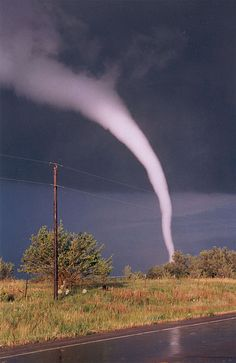 Tornado near Mulvane, KS, 6/12/2004. This was about a mile from the house I grew…
