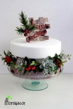 Merry Christmas Cake by Agnes Havan