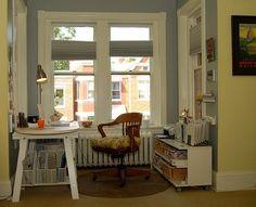 pequeno home office decoracao simples iluminado