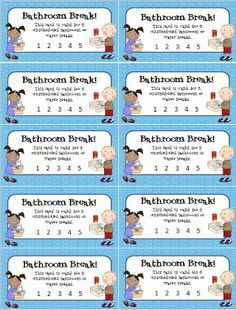 Eberopolis: Teaching Reading and Writing with Technology: Busy Weekend & Bathroom Break Freebie Classroom Economy, Classroom Behavior Management, Classroom Procedures, Behaviour Management, Student Behavior, Business Management, 3rd Grade Classroom, Future Classroom, School Classroom