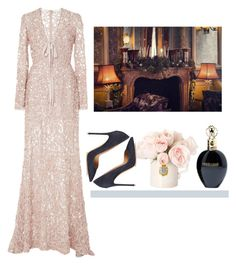 Без названия #1097 by asmin on Polyvore featuring polyvore, fashion, style, Elie Saab, Gianvito Rossi, Roberto Cavalli and clothing