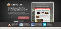 SMORE: Fun flyer-maker. Easy, tied in to online media. Free version