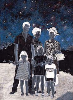 Soheila Sokhanvari, 'The Sheltering Sky', 2015, egg tempera on vellum, 23.5 x 31cm. Image courtesy the artist and Kristin Hjellegjerde.
