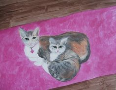 "Canvas Art by Jamie - Mother/Daughter ""Kali and Gracee"""