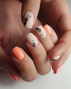 Installation of acrylic or gel nails - My Nails Animal Nail Designs, Cute Nail Designs, Trendy Nails, Cute Nails, Nail Art Tattoo, Hair And Nails, My Nails, Long Nails, Natural Gel Nails