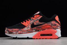 """new products d4c27 82e43 Atmos x Nike Air Max 90 Print """"We Love Nike"""" Black Bright Crimson-White  AQ0926-001"""