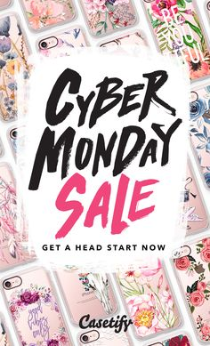 Cyber Monday is coming up, don't miss the chance. Shop your favourite iPhone 7 Cases and iPhone 7 Plus Cases and other fashion tech accessories here > https://www.casetify.com/cyber-monday