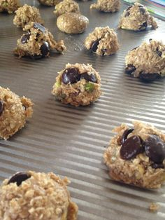 Healthy chocolate chip, flax, pistachio cookies.  Great Website!!!!  Great Recipes!!!!  :)