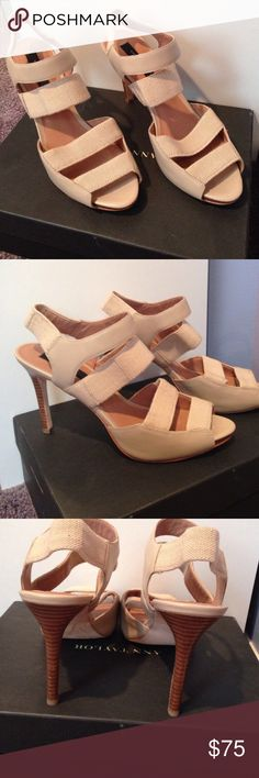 Ann Taylor heels NIB Tan color heels worn once ready for a new home to dance the night away Ann Taylor Shoes Heels