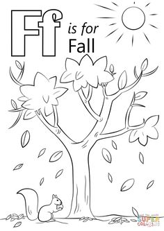 Coloring Letter F Is For Fall Page Free Printable Pages And Unique Frog Ideas Templ Click The