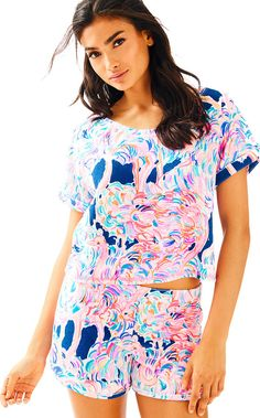 Lilly Pulitzer Dossie Top and Short Set The Dossie Set is a playful two-piece top and short set that combines comfort and chic to PERFECTION.