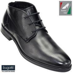 Bugatti férfi bőr bokacipő 311-59331-1000-1000 fekete