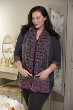 Pocket Shawl - Free crochet pattern Lion Brand