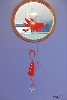 Mel et Kio - Art mural - Centre de loisirs - Signalétique