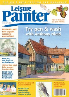 Buy Digital and Print Copies of Leisure Painter - Available on Desktop PC or Mac and iOS or Android mobile devices. Kids Watercolor, Watercolour, Reading For Beginners, Landscape Steps, Art Tutor, Pen And Wash, Aesthetic Design, Selling Art, Funny Art