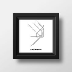 TROME - COPENHAGEN is a minimalistic art made from original metro maps. Influenced by simplicity and modernity.